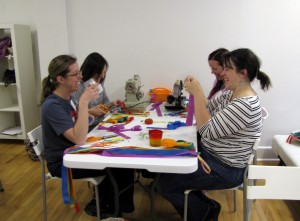 Happy Friends Sewing Streamers at Cloud 9 W. web