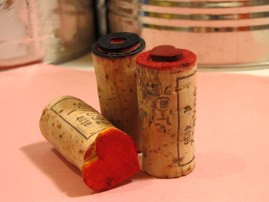 C9W Valentine Cards – DIY Stamps from Wine Corks