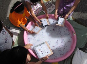 Outdoor Paper Making with C9W