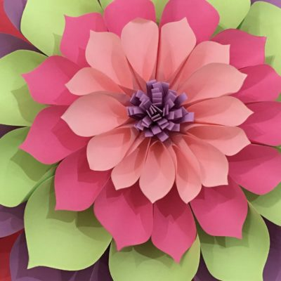 Giant Paper Flower made at Cloud 9 Workshop