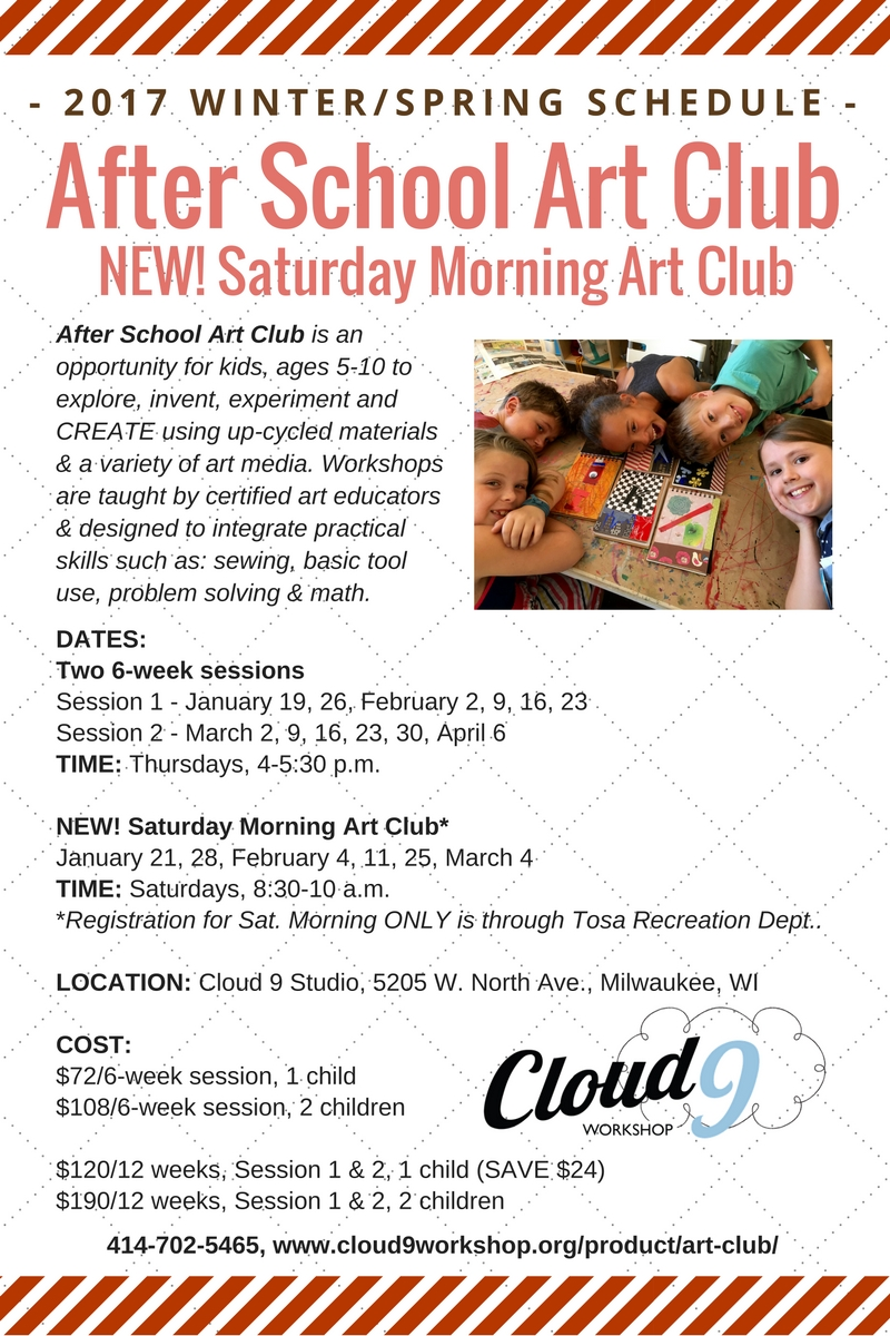 After School Art Club 2017 Flyer