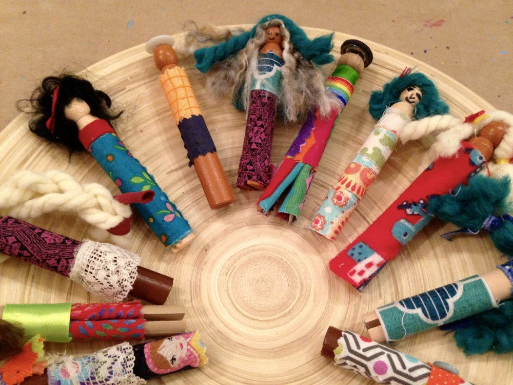 Tutorial-How to create Wooden Clothespin Dolls