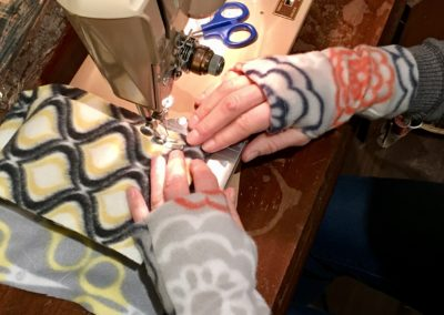 Simple Sewing Fingerless Gloves @ Cloud 9 Workshop