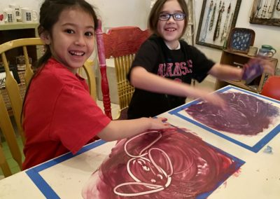 Finger Painting with Friends