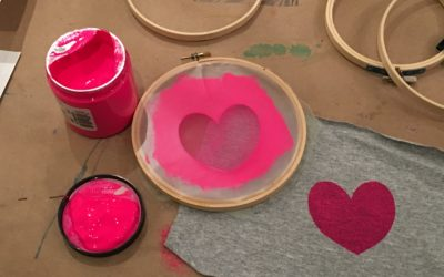 Screen Printing with Simple Supplies at April's Feeling Crafty