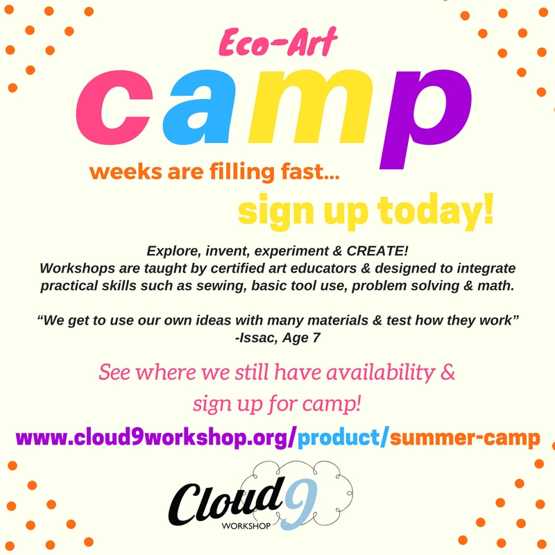 Join us for Summer Eco-Art Camp