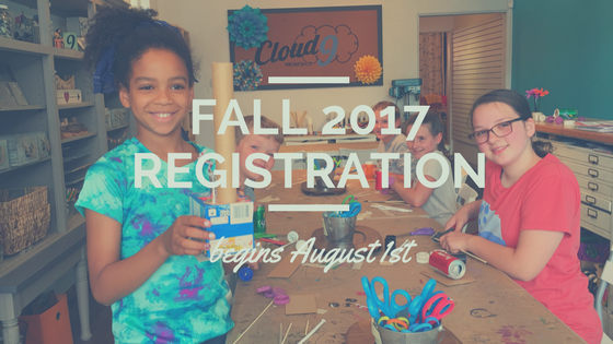 Fall 2017 Workshop Registration Begins August 1st